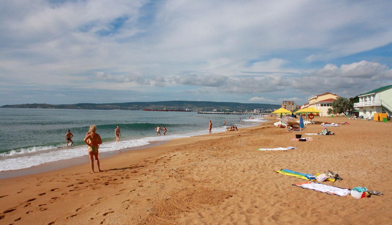 Пляж в феодосия фото