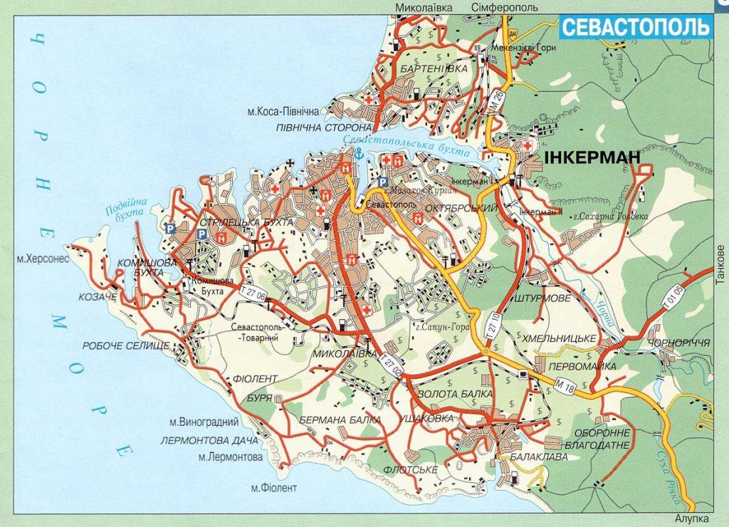 Карта Севастополя