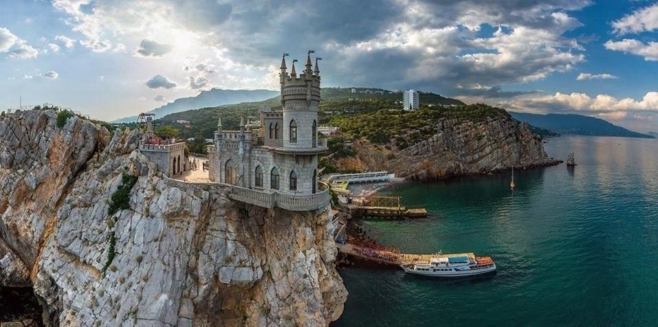 Фото красивых мест Крыма. Ласточкино гнездо. Панорама