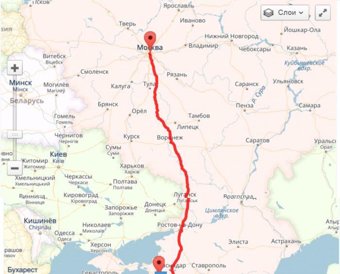 Как доехать до Ялты из Москвы