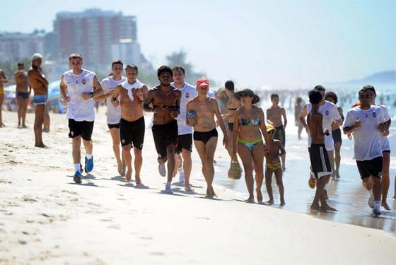 Тренировка спортсменов в Крыму