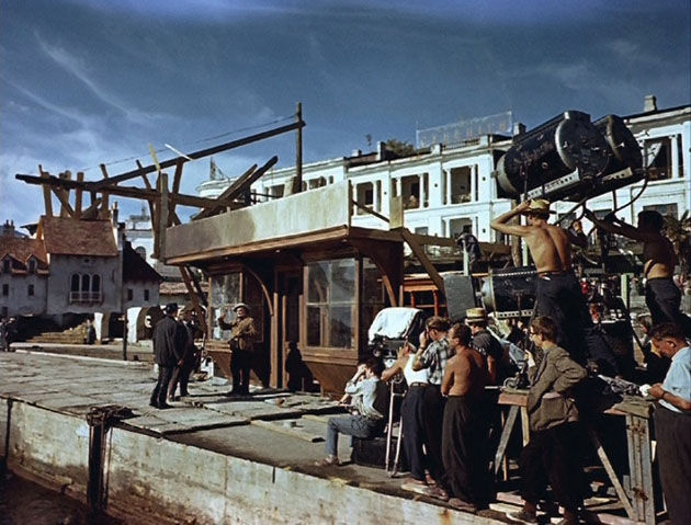Съёмочный процесс в Ялте.