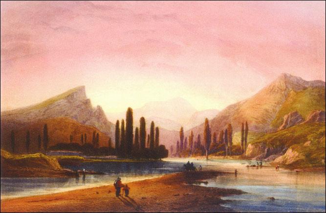 Карло Боссоли. Альминская Долина. Литография