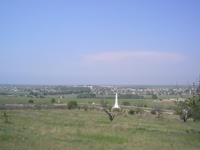 Мемориал Альминского сражения и вид на Вилино