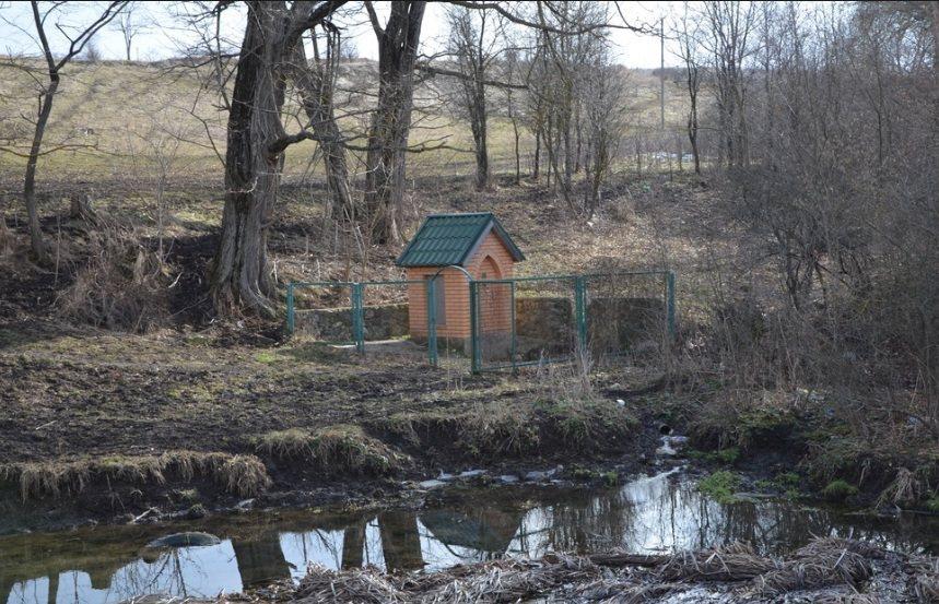 Восстановленный Свято-Георгиевский источник в Клиновке