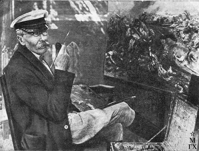Николай Самокиш за работой
