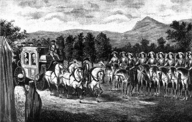 Встреча Екатерины Великой с Амазонской ротой в районе Балаклавы