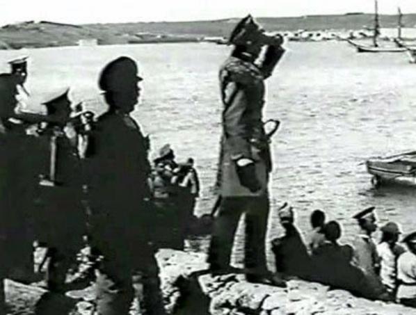 Кадр из фильма Оборона Севастополя. Съемки 1911 год