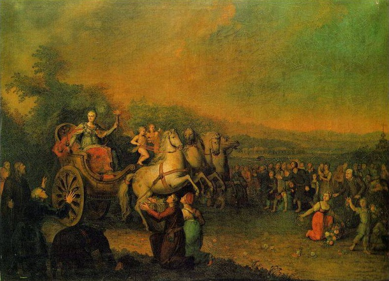 Картина неизвестного художника. Путешествие Екатерины Второй в 1787 году