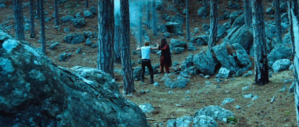 Сцена, снятая в лесу севернее Алупки