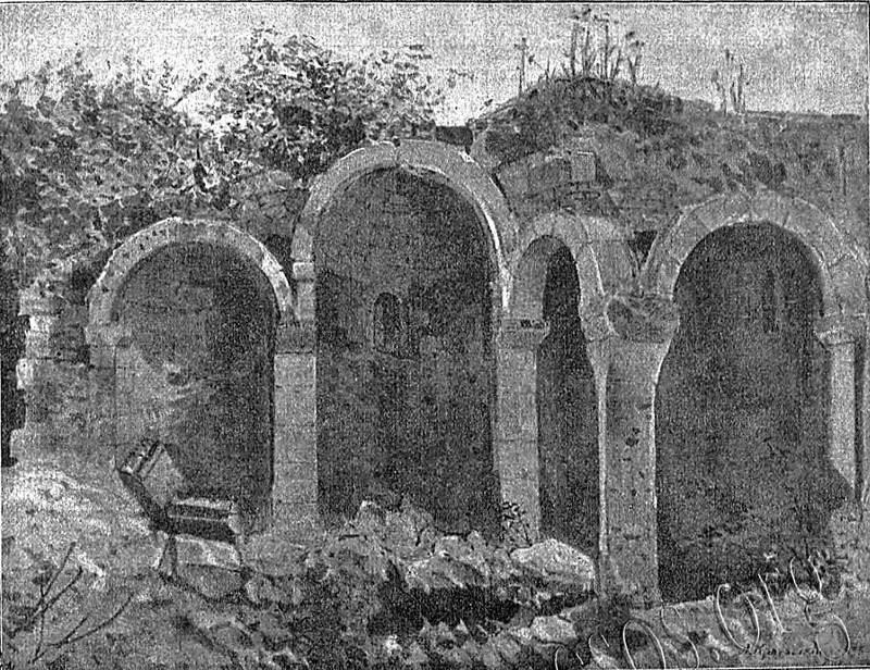 Церковь Св. Троицы в Лаках. Старинное фото