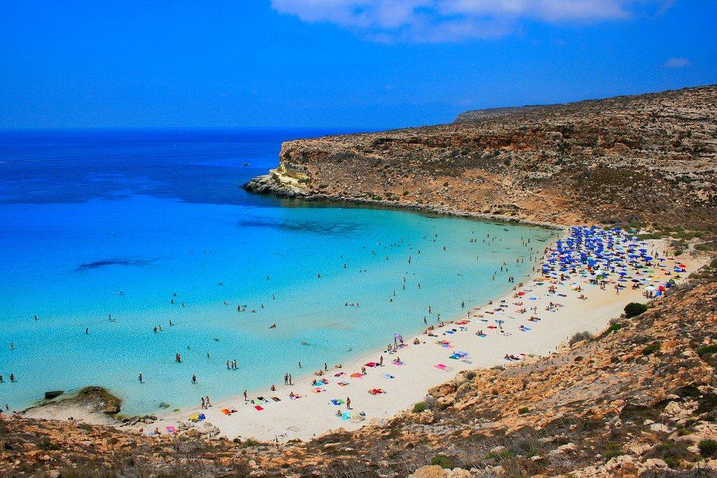 Пляж Кролика в Лампедузе