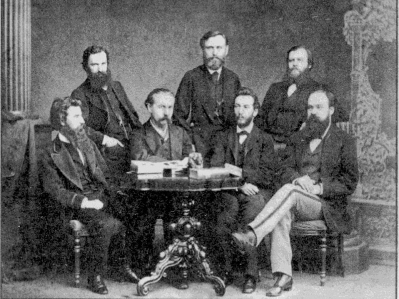 Александр Ефимович Голубев с коллегами