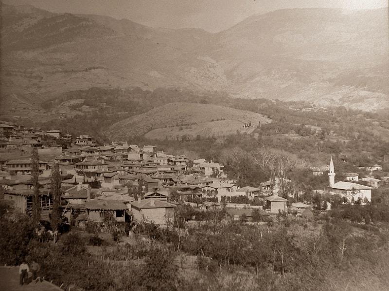 Вид на жилые дома в селе Дерекой
