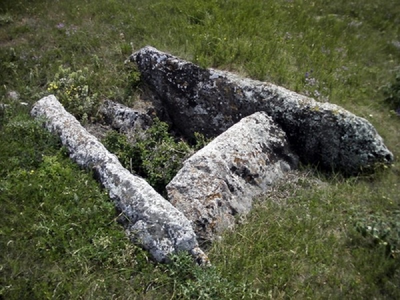 Каменный ящик тавров в Биюк-Янкой