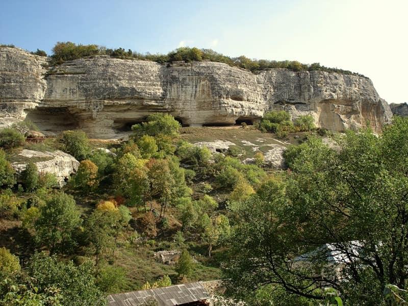 Посадки у пещеры Кырк-азиз