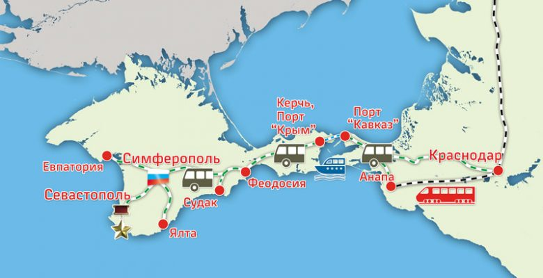 добраться до Крыма